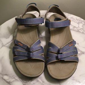 Teva light blue sandals size 10